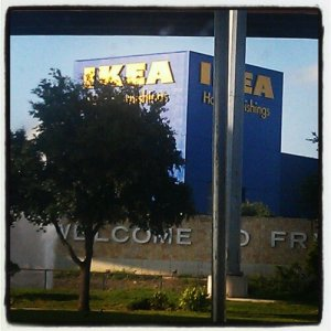 Driving up to IKEA in Frisco, TX.