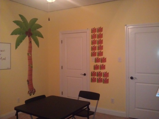The Word Wall and Reading Tree. Both purchased from The Knowledge Tree.