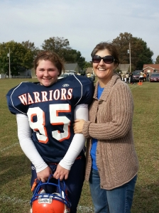 Hannah and me after her last game her senior year. She was awesome!